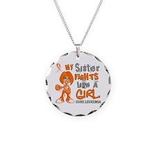 Fights Like a Girl 42.9 Leukemia Necklace