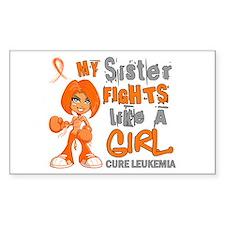 Fights Like a Girl 42.9 Leukemia Decal
