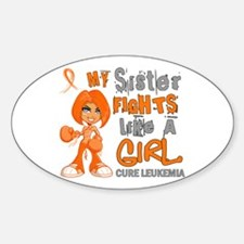 Fights Like a Girl 42.9 Leukemia Decal