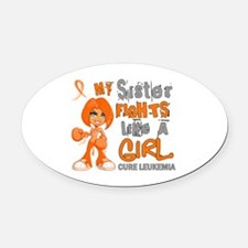 Licensed Fight Like a Girl 42.9 Le Oval Car Magnet
