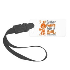 Fights Like a Girl 42.9 Leukemia Luggage Tag