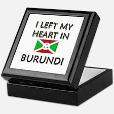 I Left My Heart In Burundi Keepsake Box