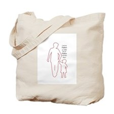 Father Outline Tote Bag