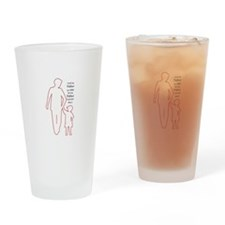 Father Outline Drinking Glass