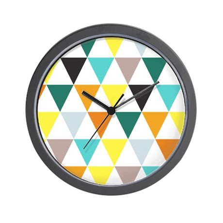 Multi-Colored Triangles Wall Clock