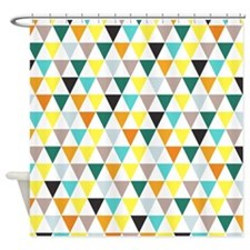 Multi-Colored Triangles Shower Curtain