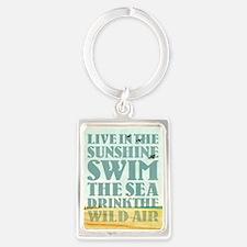 Live in the Sunshine Portrait Keychain