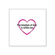 "Kingdom of God Square Sticker 3"" x 3"""
