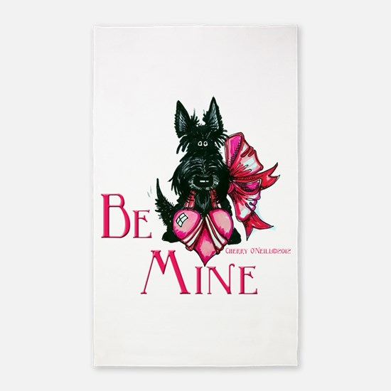 Scottish Terrier Valentine 3'x5' Area Rug