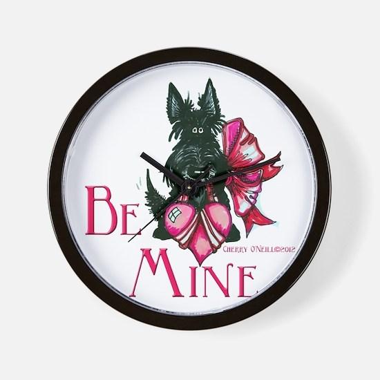 Scottish Terrier Valentine Wall Clock