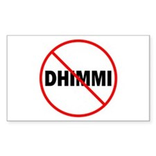 No Dhimmi Rectangle Decal