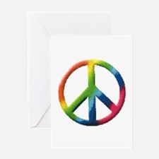 Rainbow Peace Sign Greeting Card