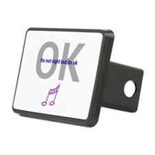 Its not right but its ok Rectangular Hitch Cover