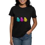 CMY Penguins Women's Dark T-Shirt