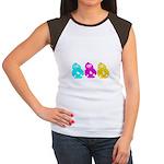 CMY Penguins Women's Cap Sleeve T-Shirt