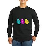 CMY Penguins Long Sleeve Dark T-Shirt