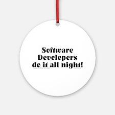 Software Dev. Ornament (Round)