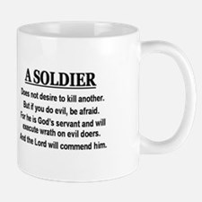 A Soldier does not desire to Mug