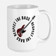 Respect the bass Large Mug