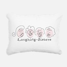 Laughing-Sisters Rectangular Canvas Pillow