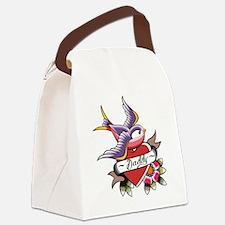 Tattoo heart daddy Canvas Lunch Bag