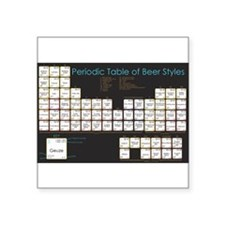 "Periodic Table of Beer Square Sticker 3"" x 3"""