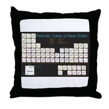 Periodic Table of Beer Throw Pillow