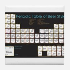 Periodic Table of Beer Tile Coaster