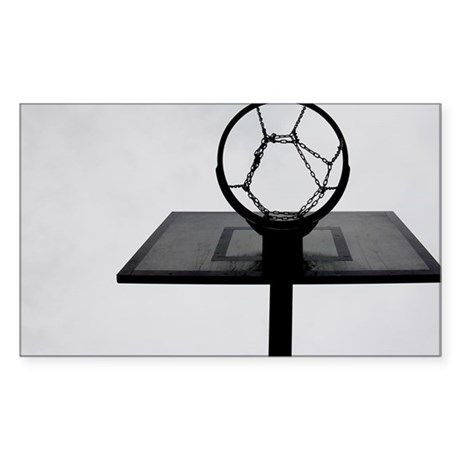 Basketball hoop. - Sticker (Rectangle)
