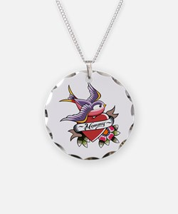 Tattoo heart mommy Necklace