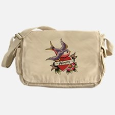 Tattoo heart mommy Messenger Bag
