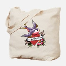 Tattoo heart mommy Tote Bag