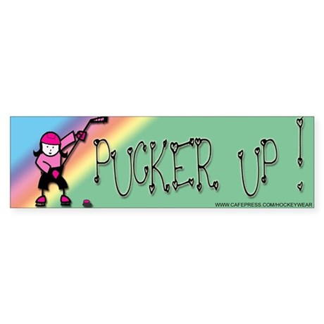 Pucker Up Bumper Sticker