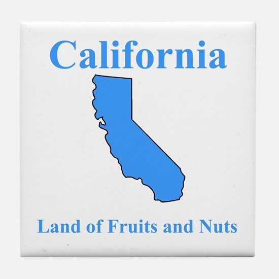 California Land of Fruits and Nuts Tile Coaster