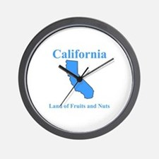 California Land of Fruits and Nuts Wall Clock