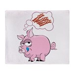 Pigs Love Bacon Throw Blanket