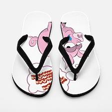 Pigs Love Bacon Flip Flops