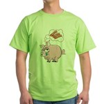 Pigs Love Bacon Green T-Shirt