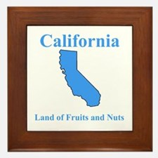 California Land of Fruits and Nuts Framed Tile