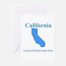 California Land of Fruits and Nuts Greeting Cards