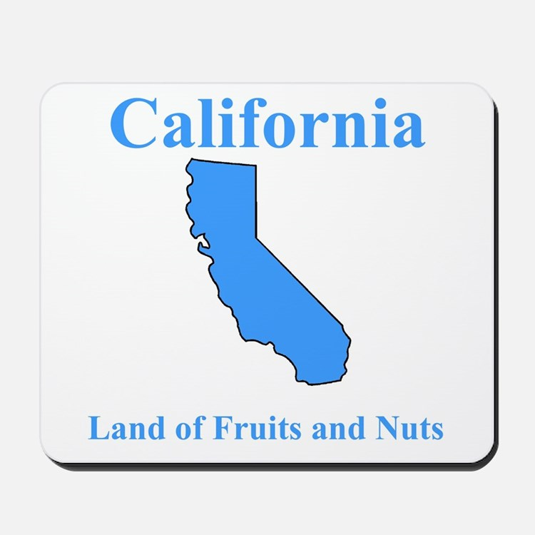 California Land of Fruits and Nuts Mousepad