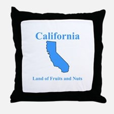 California Land of Fruits and Nuts Throw Pillow