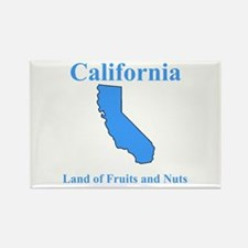 California Land of Fruits and Nuts Rectangle Magne