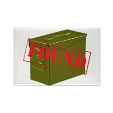 Found Stamp Rectangle Magnet (100 pack)