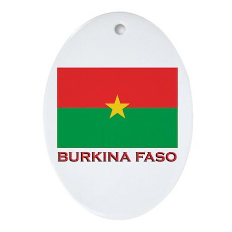 Burkina Faso Flag Merchandise Oval Ornament