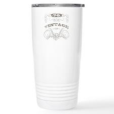 Vintage 70th Birthday Stainless Steel Travel Mug