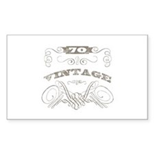 Vintage 70th Birthday Stickers