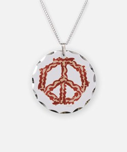 Peace Sign Bacon 2 Necklace