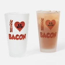 I Love Bacon Drinking Glass