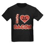 I Love Bacon Kids Dark T-Shirt